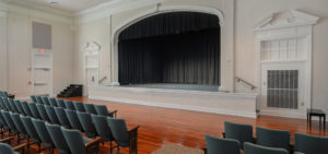 New stage floor and curtains